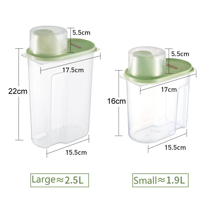 Image 5 - PP Food Storage Box Plastic Clear Container Set with Pour Lids Kitchen Storage Bottles Jars Dried Grains Tank 1.9L 2.5L H1211-in Storage Bottles & Jars from Home & Garden