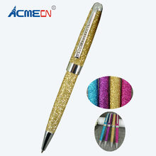 ACMECN Hot Sale Attractive Fashion Glitter Ball Pens for Lady Birthday Gifts MB Style Jewellery Crystal Bling Ballpoint Pens(China)