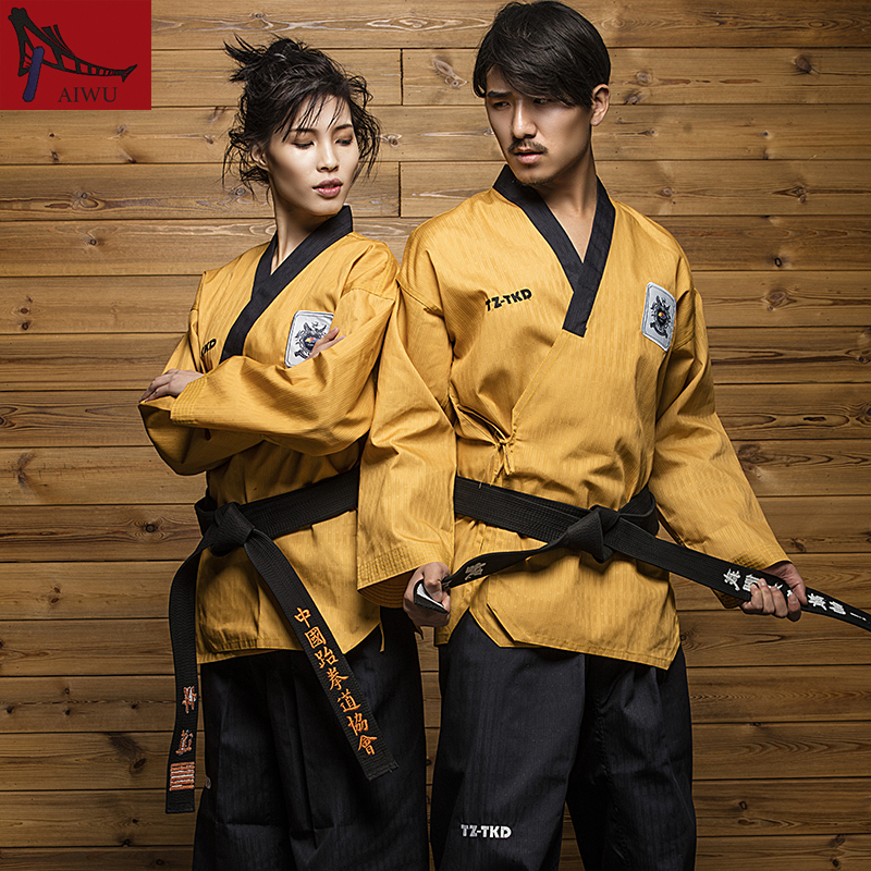 High Stage Taekwondo Dobok WTF Taekwondo Uniform Poomsae Designated Service J-CALICU Potential Professional TKD Sportwear j calicu taekwondo dobok adults children male taekwondo poomsae clothes cool cotton striped genuine for have dan persons karate