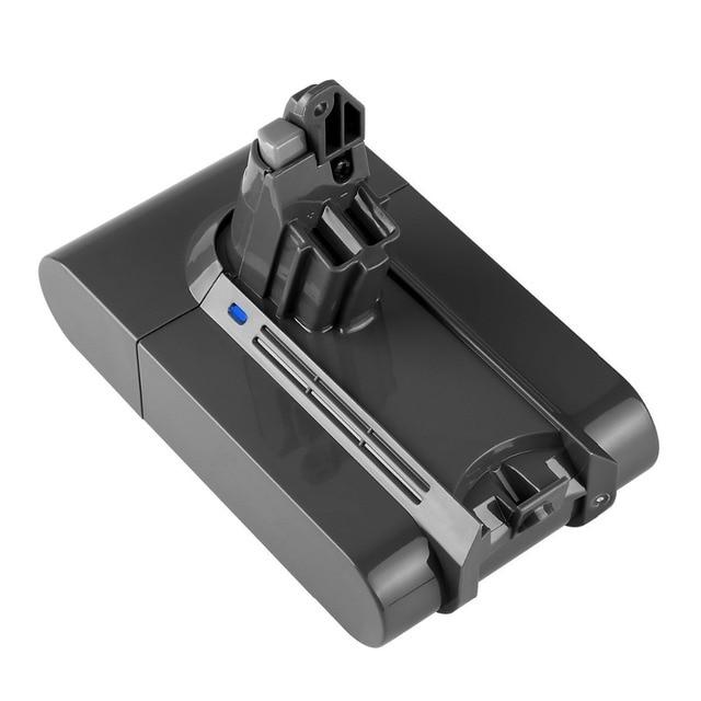 Batería recargable 21,6 V 3A Li-Ion aspiradoras de baterías de reemplazo para Dyson V6 DC58 DC59 DC61 DC62 SV05 SV07 SV09 SV06