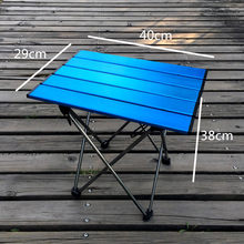 Portable Foldable Folding Table Camping BBQ Hiking Blue Mini for Backpack Desk Traveling Outdoor Picnic Al Alloy Ultra-light(China)
