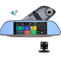 4G ADAS Car Rearview Mirror Camera GPS Bluetooth Dual Len DVR Wifi Video Recorder With 24 Hour Parking Monitor