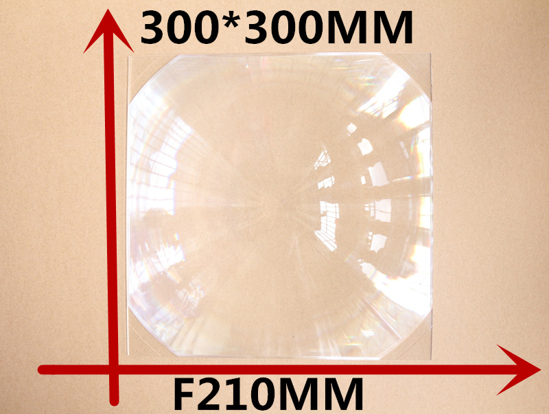 Fresnel Lens square 300*300MM Focal length 210 mmhot 2017 lens magnification 4-5 times Concentrated amplification doumoo 330 330 mm long focal length 2000 mm fresnel lens for solar energy collection plastic optical fresnel lens pmma material