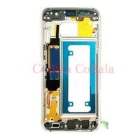 10Pcs Grey Gold Silver For Samsung Galaxy S7 G930 G930F G930FD G930W8 Housing Middle Frame Bezel