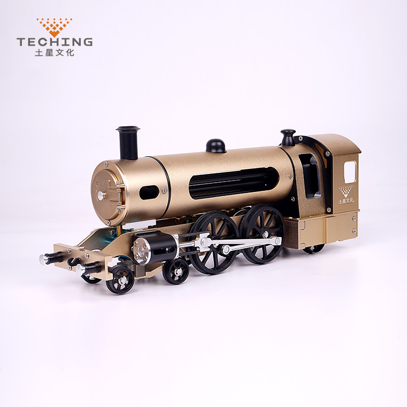 Full CNC Metal Assembled Twin wheels Steam Train Toy Model Building Kits for Researching Industry Studying / Toy / Gift