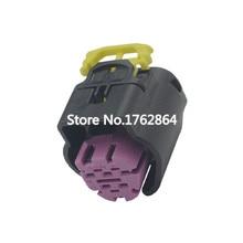 5 Pin black purple plastic connector socket with terminal DJ7052-1.5-21 5P