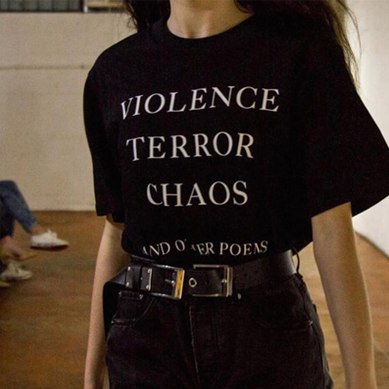 Sugarbaby Violence Terror Chaos And Other Poems Quotes T-Shirt Unisex Tumblr Fashion Grunge Graphic Tee Street Style Outfits image