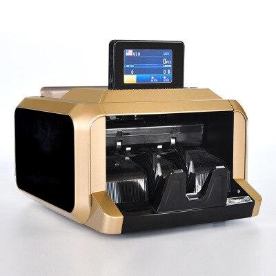 Projet de Loi de l'argent Contre Multi-Monnaie En Espèces Automatique D'argent Contre Comptage Machine avec UV MG Détecteur de faux
