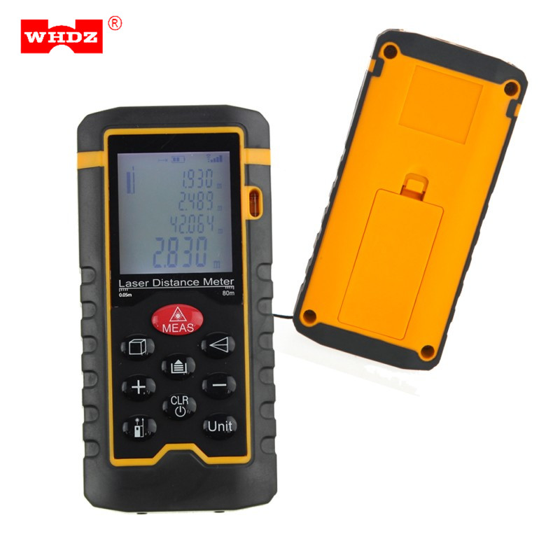 WHDZ HT-80 80m 262ft Laser Distance Meter Measuring Tool Rangefinder Tape Measure Area/Volume Range Finder with Painter Function