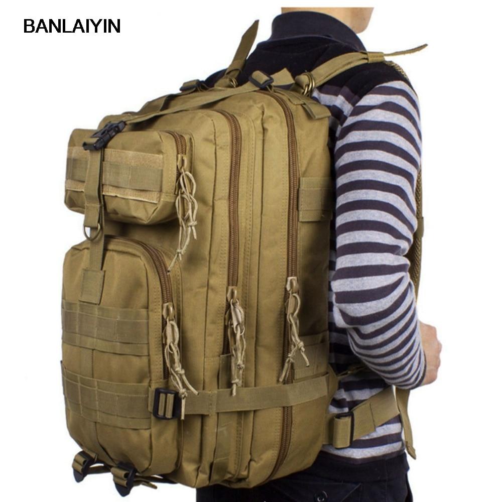 New Men Waterproof 411D Nylon Military Hunt Hike Trekking Bag Backpack Rucksack Bag Mochila Backpacks new hike