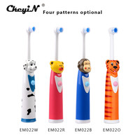 4 Colors Waterproof Soft Bristle Children Kids Electric Toothbrush Battery Operated Rotary Electric Tooth Brush Teeth