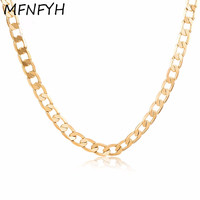 MFNFYH 2017 Hip Hop Steampunk Gold Chain Necklace Men Jewelry Wholesale Thick Metal Long Hippie Rock