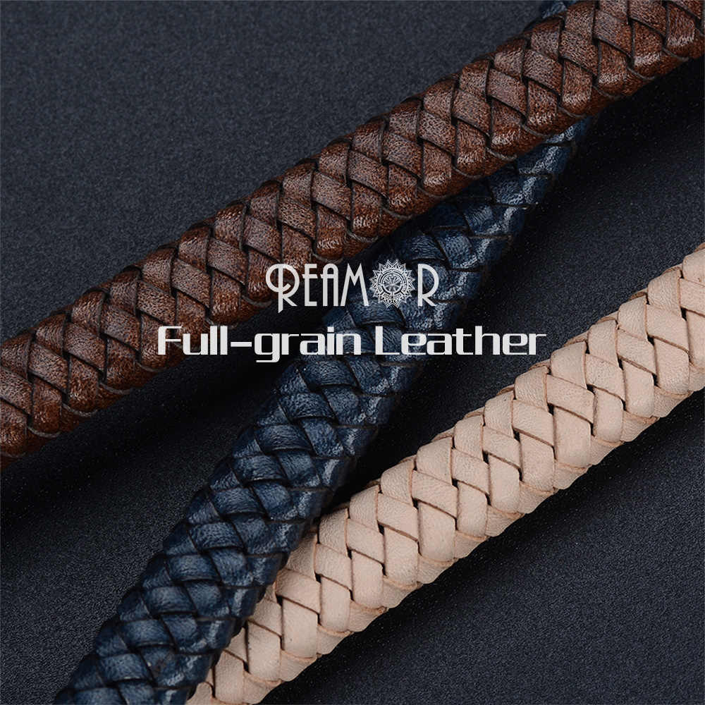 1m Vintage Genuine Leather Round Braided Cords For Jewelry Making String Rope