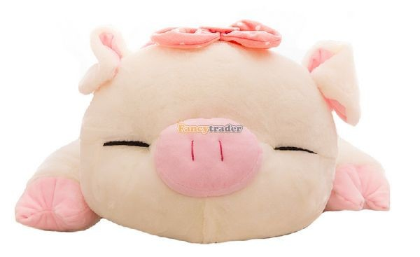 Fancytrader Hot Selling 35\'\' 90cm Super Lovely Soft Stuffed Giant  Lying Pig Toys ,3 Colors Available!Best Gift and Decoration for Kids, Free Shipping FT50069(4)