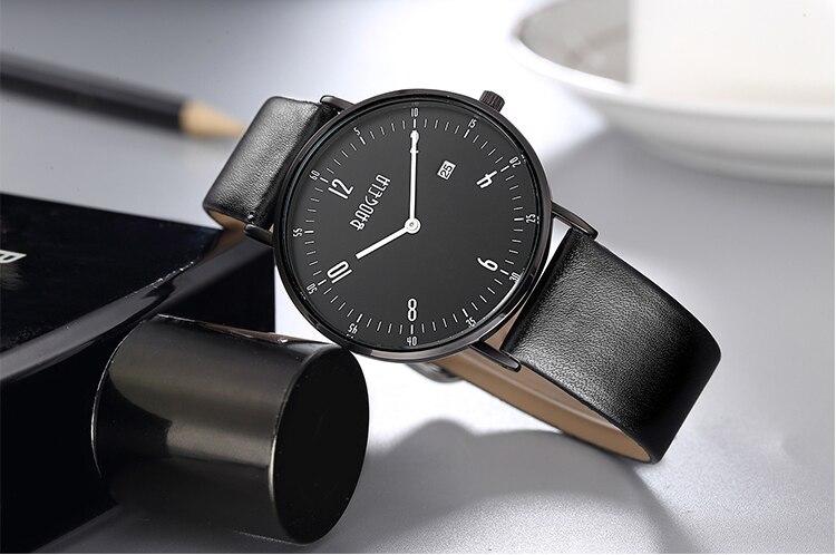 BAOGELA Mens Watch Top Brand Luxury Quartz Wrist Watches Leather Strap Date Waterproof Wristwatch For Man 1610 все цены