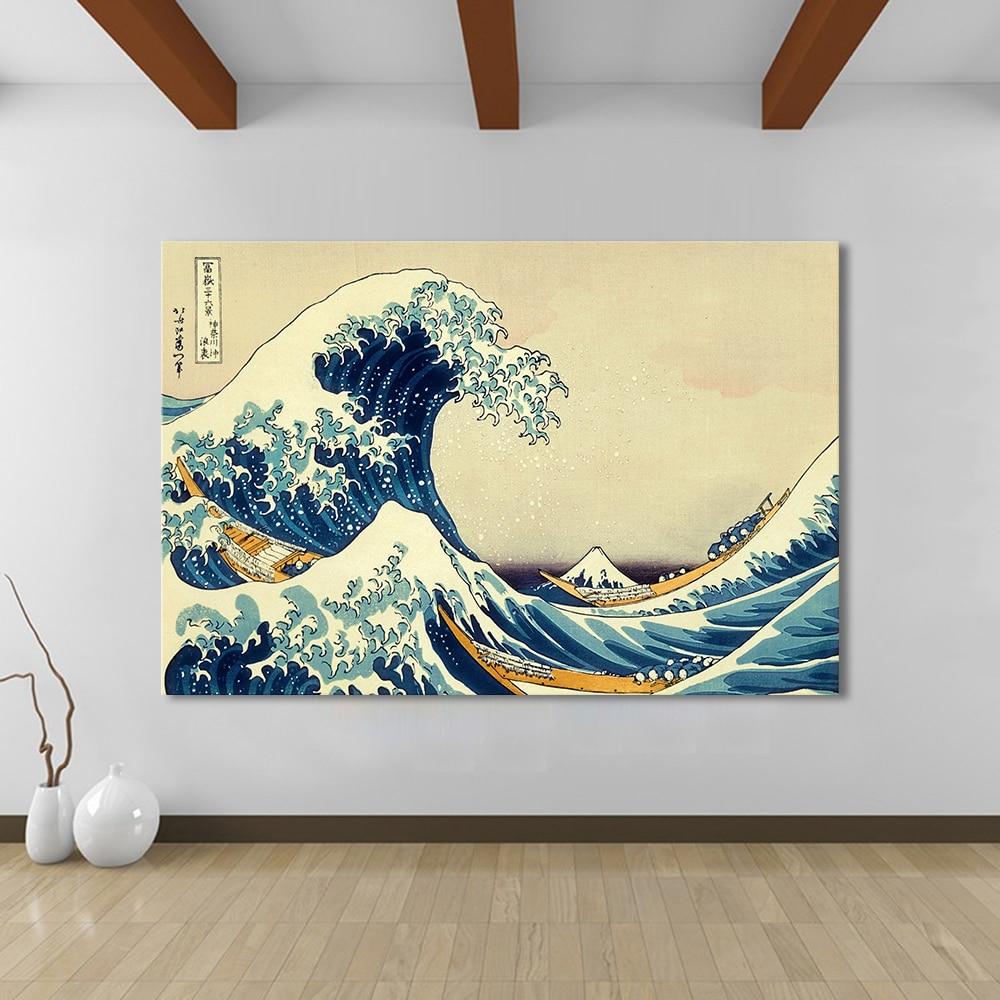 Aliexpress.com : Buy HDARTISAN Canvas Art The Great Wave Wall ...