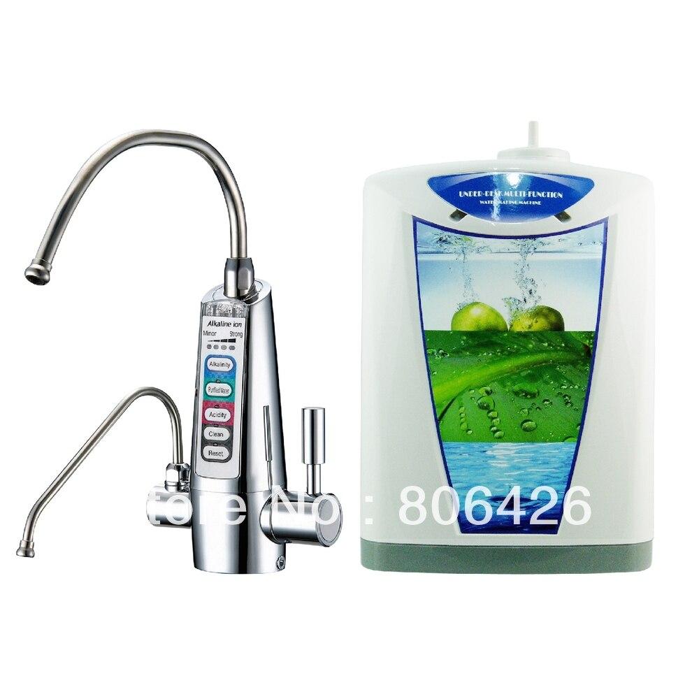 Placas 5 Undersink Alcalina ionizador de água/água catódica/água eletrolisada/hidrogênio (JapanTechTaiwan factry) filtro embutido NSF