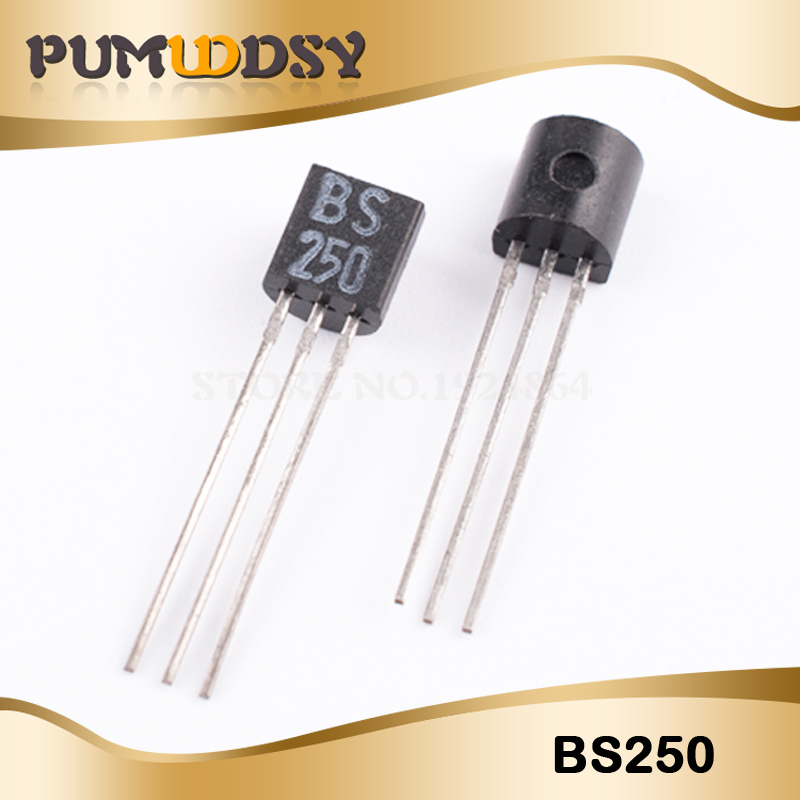 10pcs/lot BS250 TO-92 P Channel 45V 0.23A 0.7W New Original IC