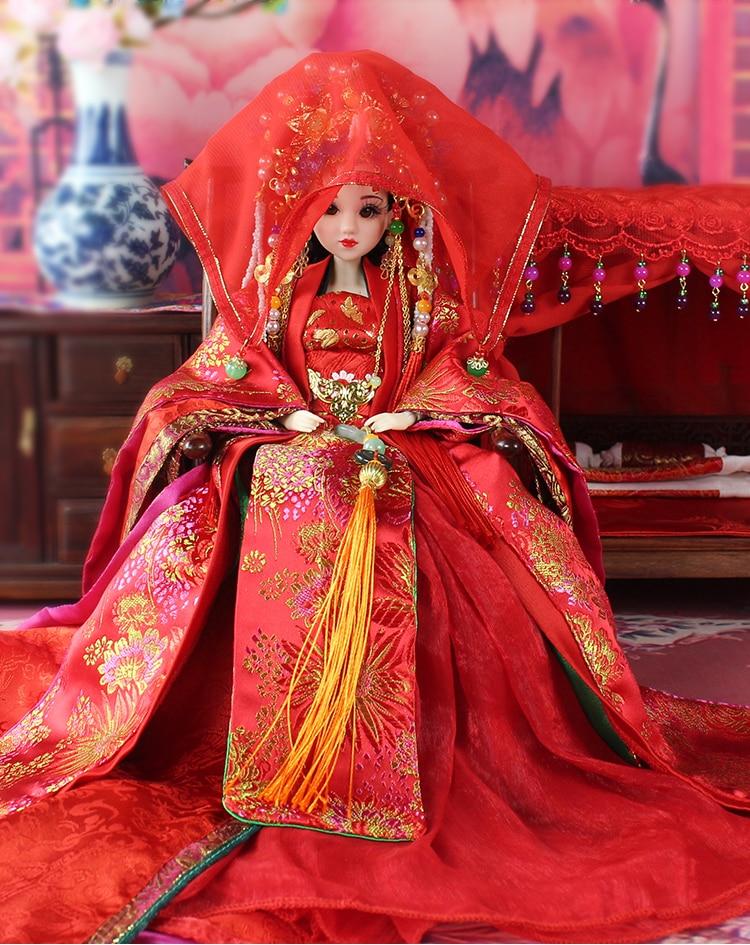 Ücretsiz Kargo 35 cm El Yapımı Çin Kız Bebek Butik Vintage - Bebekler ve Aksesuarlar - Fotoğraf 6