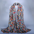 Lovely Animal Owl Pattern Viscose Shawl Scarf Bufandas Mujer 2017 Fashion Voile Echarpes Foulards Femme Wrap Snood Muslim Hijab