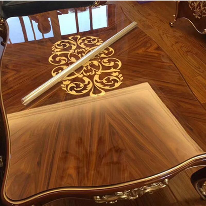 152 cm * 600 cm 2Mil haute brillance Film clair meubles Table Film de protection maison Table autocollant résistant aux rayures 60 ''x 236.22''