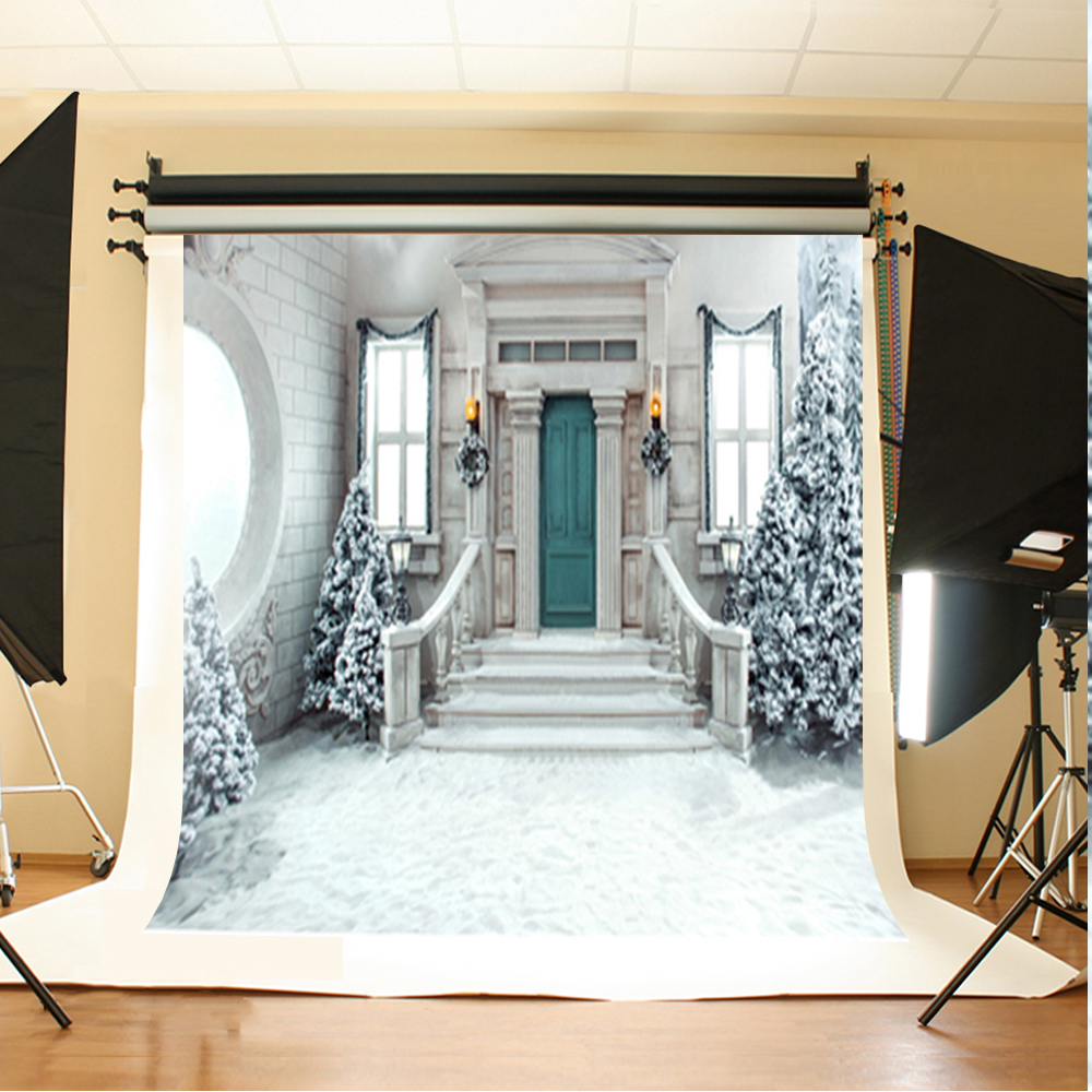 Wedding Photography Backdrops Snowy Tree Stairs Background for Photo Light White Ground Backdrops for Photographic Studio wedding photography background red flower tree photo booth backdrops ground brick wedding background for photographic studio
