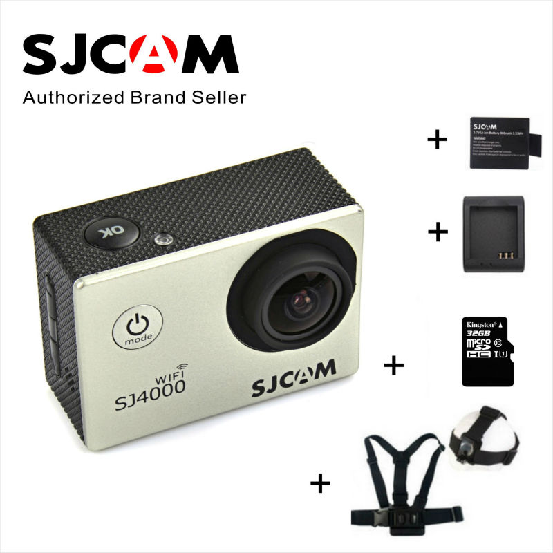 Original SJCAM SJ4000 wifi 2.0inch LCD sport video action camera 1080P Helmet waterproof  sj4000 action camera free ship protective frame housing case with mount base for sjcam sj4000 sj4000 wifi action camera