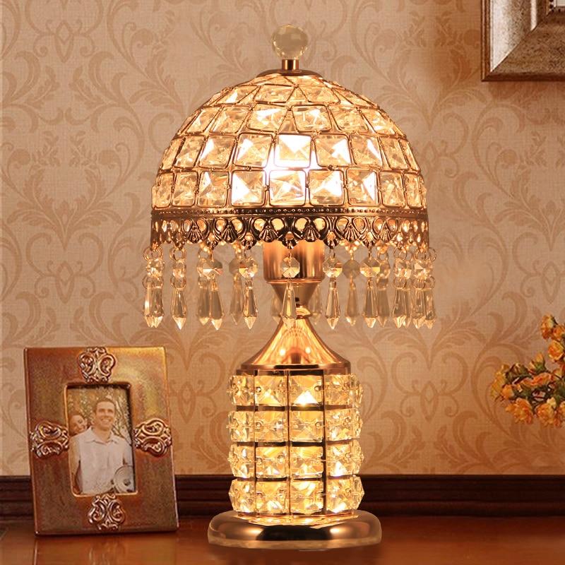 Modern Fixture Lamp Crystal Table Lamps For Living Room Bedroom Shades Bedside Design Desk Light