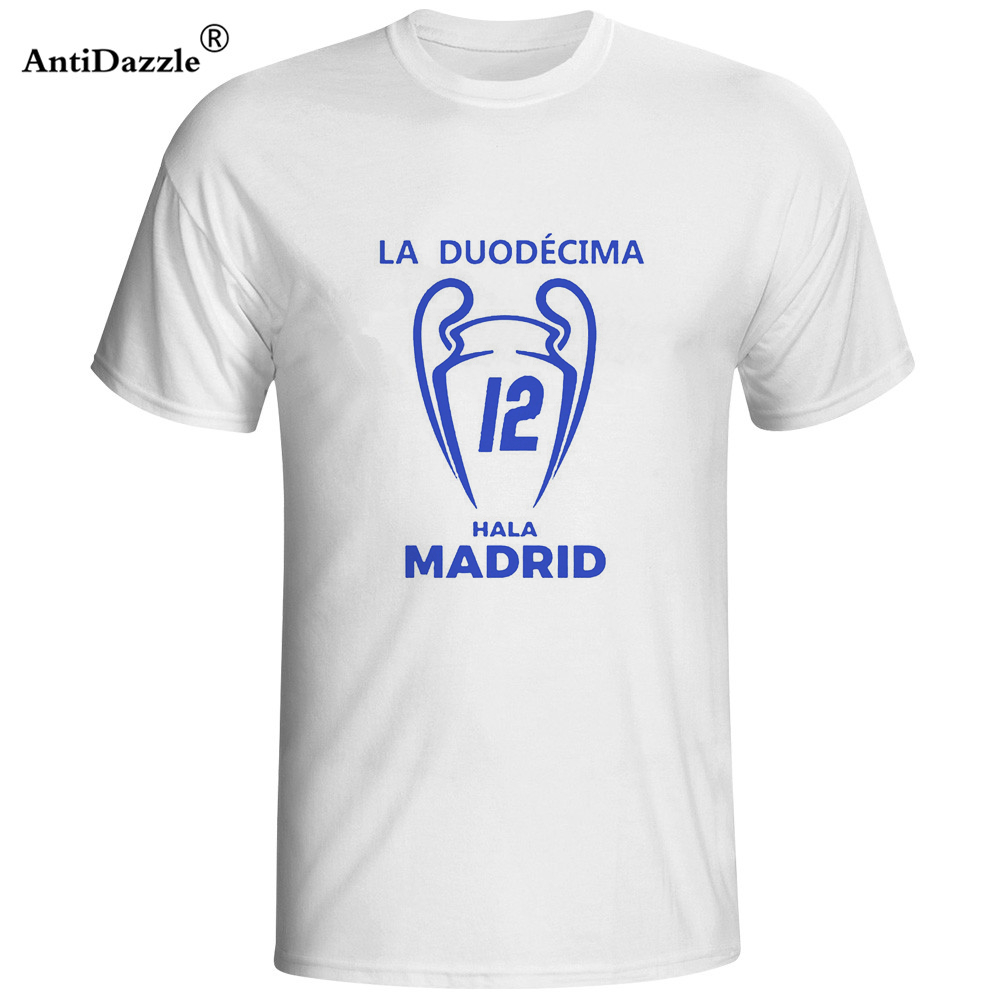 Antidazzle 2017 Men T-shirt La Duodecima Real XII 12 Ronaldo Champions Winners Madrid Clothes T Shirt Men's tee