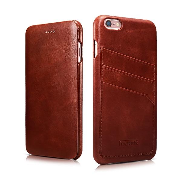 Asli ICARER Pemegang Kartu Kulit Asli Kasus Untuk iPhone6 6 s - Aksesori dan suku cadang ponsel - Foto 2