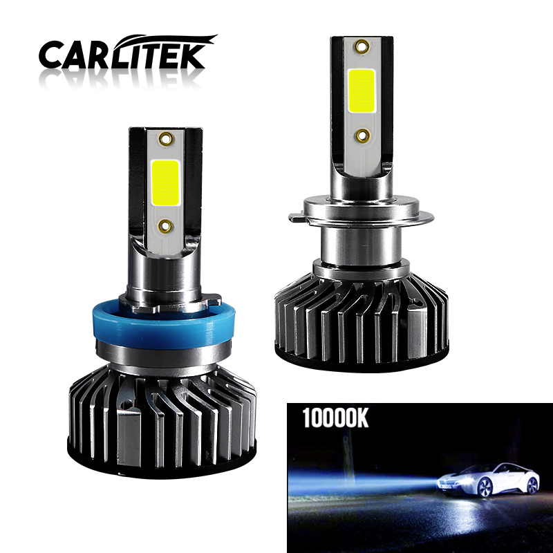 CARLitek 12V Car <font><b>Led</b></font> H7 Headlight Kit H11 Lamp 24V Auto Bulb <font><b>H4</b></font> 9003 HB2 Hi/Lo Mini <font><b>Led</b></font> Fog Light Automobile Head Lights <font><b>10000K</b></font> image