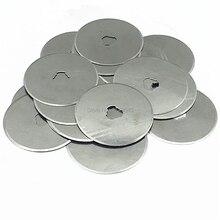 Cuchilla de repuesto para cortador rotativo, lote de 10 unidades de 45mm, para colchas, fotos, herramientas de corte de tela, 45x8x0, 3mm
