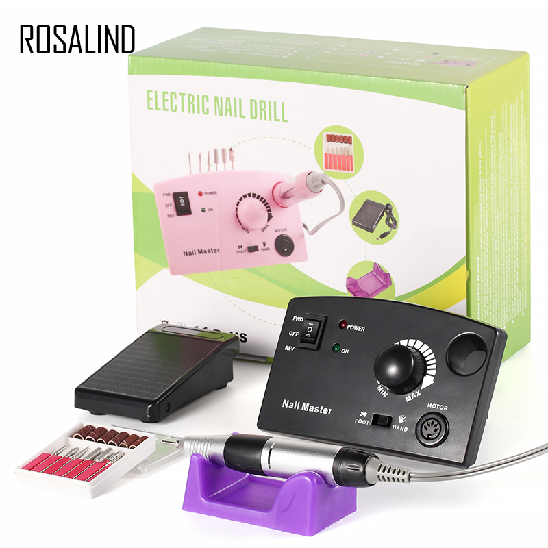 цена ROSALIND Electric Manicure Drill New Arrival Nail Art Equipment Nail File Nails Accessories Drill EU Plug Nail Design manicure