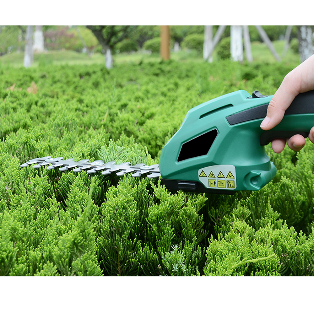 Closeout DealsALLSOME Hedge Trimmer Weeding-Shear Pruning Cordless Electric Rechargeable 2-In-1 Mower