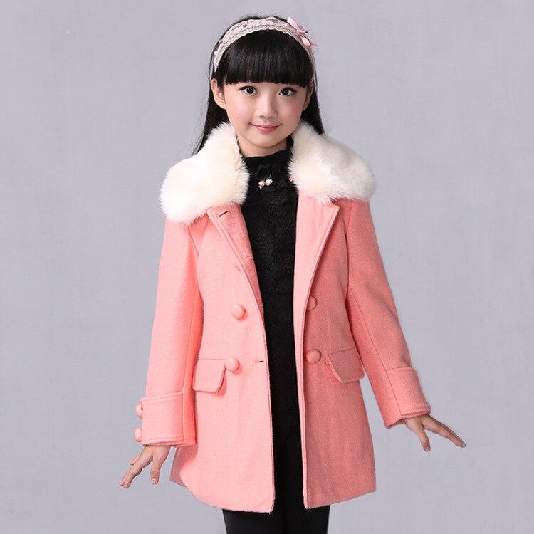Children 's woolen jacket 2016 autumn and winter new children' s children 's long wool coat coat designers children s