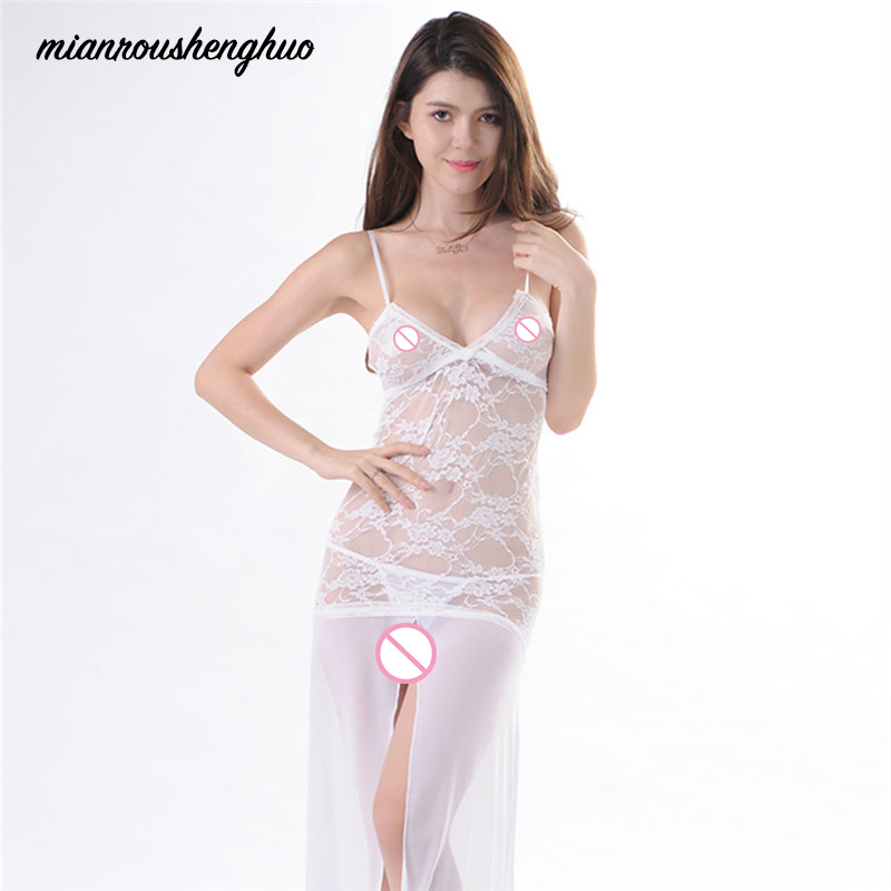 Sexy Underwear Nightdress Lace Slips Transparent Lingerie Slip Dress Sexy Lingerie Pajamas Female Body Intimacy Nightwear
