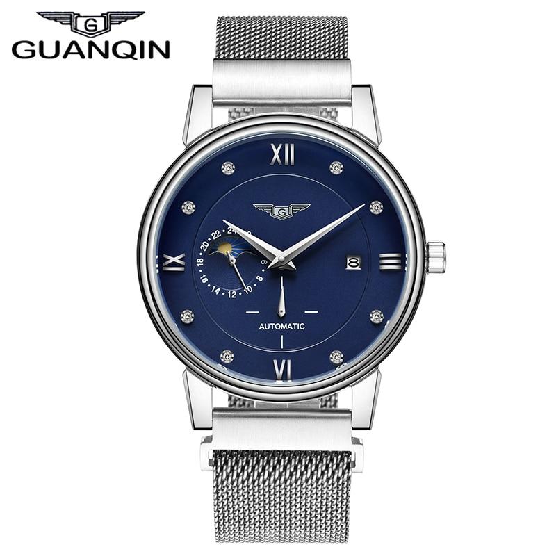 GUANQIN GJ16039 brand font b simple b font fashion Mechanical Watches font b Men b font