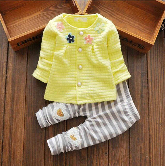 Newborn baby girl clothes 2017 vetement fille clothing set winter cotton toddler girl clothing 2PC baby set baby girl clothes