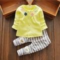 Sistema de la ropa del bebé recién nacido ropa 2017 vetement fille invierno muchacha del niño ropa de algodón 2 UNID bebé conjunto niña ropa