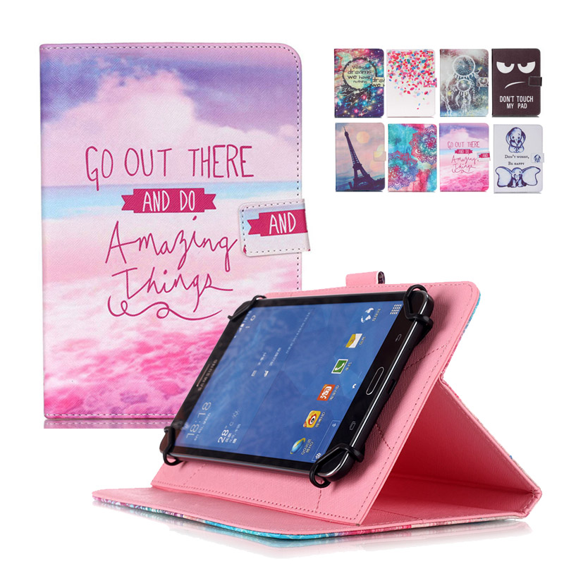 For Huawei Mediapad T1 10 T1-A21w Universal 10 inch PU Leather Stand Cover For 9.7~10.1 inch Tablet Case +Center Film+pen KF553C pu leather cover case for supra m12ag 10 1 inch for ipad pro 9 7inch tablet 10 10 1 inch universal tablet center film pen kf492a