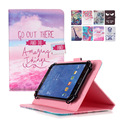 For Huawei Mediapad T1 10 T1-A21w Universal 10 inch PU Leather Stand Cover For 9.7~10.1 inch Tablet Case +Center Film+pen KF553C