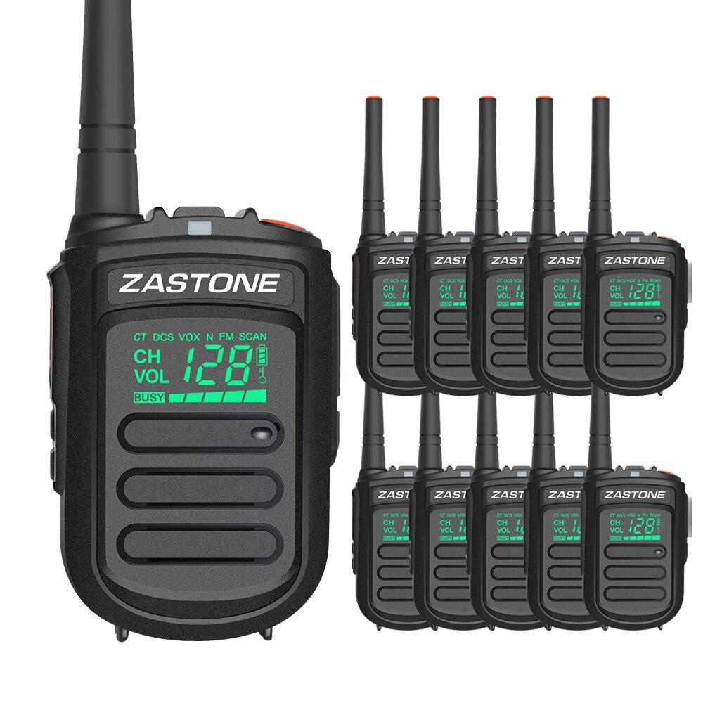 10pcs Zastone MINI9 walkie talkie UHF 400 470MHz 128CH communication equipments portable radio handy communicator hf