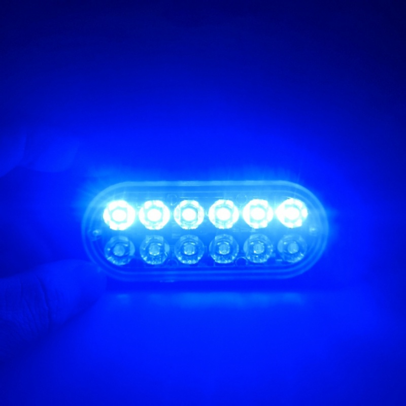 New 12 LEDs Flashing Modes 12V Car Truck Emergency Flasher Dash Strobe Warning Light Day Running Flash Led Police Lights