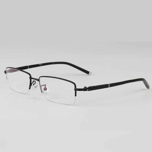 ebf84bcce452 Titanium Gold Eye Glasses Frame For Men Rimless Eyeglasses Frames Slim  Optical Lens Men's Prescription Eyewear Grade Points Male