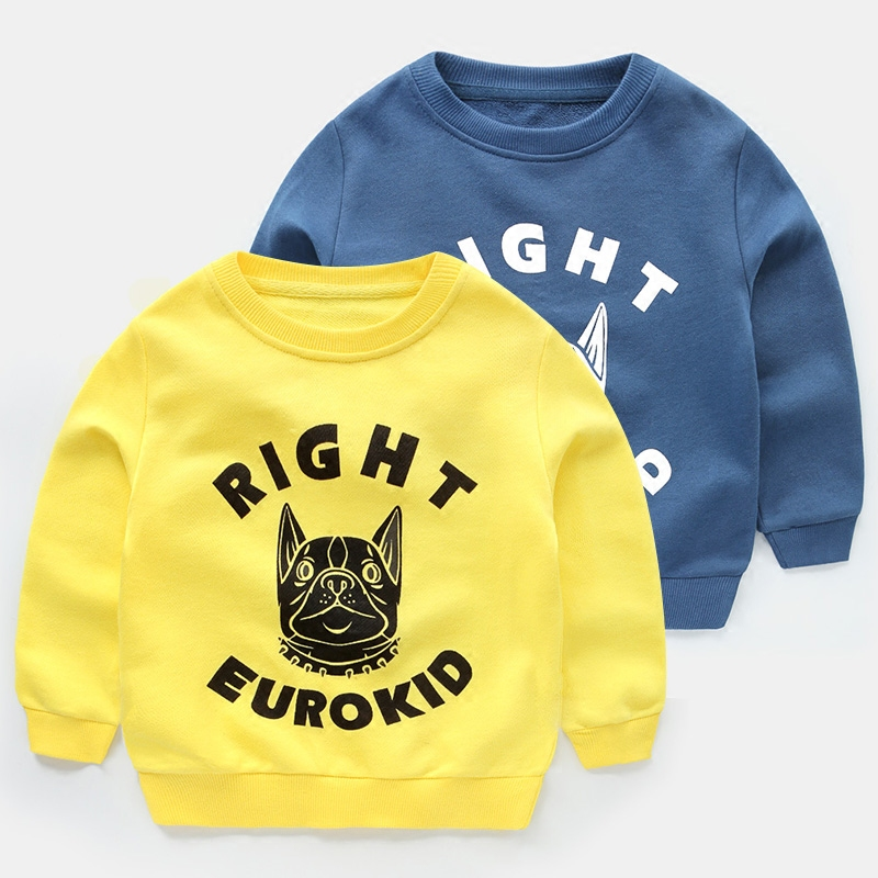 Boys Cartoon Kids T-Shirts Spring and Autumn Long Sleeves Casual Fashion Baby Hoodies&Sweatshirts Children Good Sell Clothes