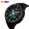 SKMEI 2017 Brand Men Sports Watch LED digital Wristwatch Diving Zone 50M Waterproof Electronic Multifunction Military Watches