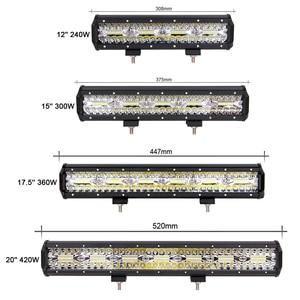 """Image 5 - 4 """"7"""" 12 """"20 Polegada led barra de luz para rc carro 4x4 fora da estrada 4wd caminhão atv 12v 24v reboque da motocicleta combo offroad trabalho barra luzes"""