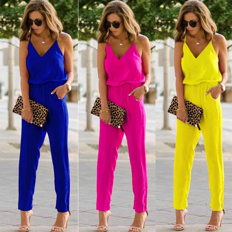 De verano de Color sólido Casual de moda vestido Sexy mujer correa sin mangas Delgado Bodycon vestido