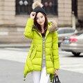 Зимняя Куртка Женщин Хлопка Проложенный Пальто Меховой Воротник Утолщение Парки Для Женщин Зимнее Пальто Куртки