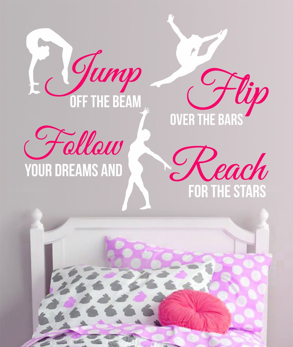 New 2017 Gymnastics Dance GIRLS SPORT Vinyl Wall Decor Mural Quote Decal  Saying Wall Stickers Home Decor In Wall Stickers From Home U0026 Garden On ...